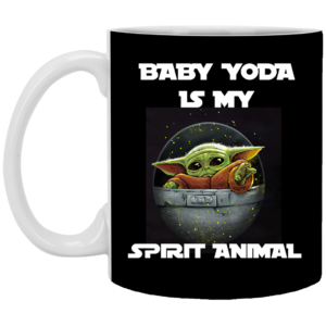 Cute Force Mug – Mandalorian Baby Yoda Mug, Necklace