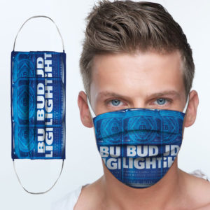 Bud Light Platinum Cloth Face Mask