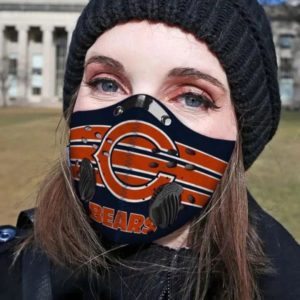Chicago Bears Face Mask with Filter Activated Carbon PM 2.5