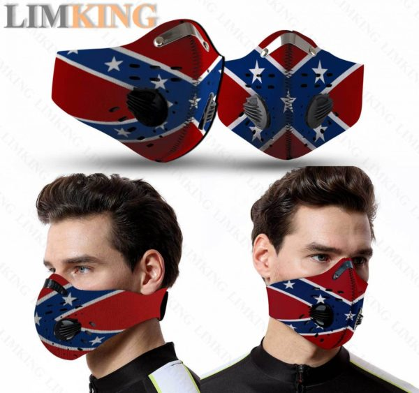 Confederate Flag Face Mask Filter PM2.5