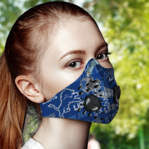 Detroit Lions Face Mask with Filter Activated Carbon PM 2.5