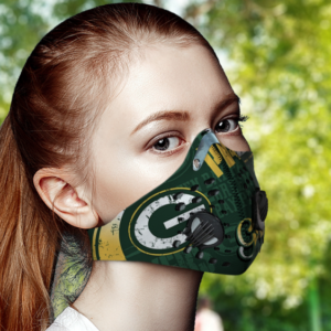 Green Bay Packers Face Mask Filter PM2.5