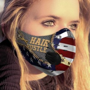 Hairstylist Hair Hustle American Flag Face Mask