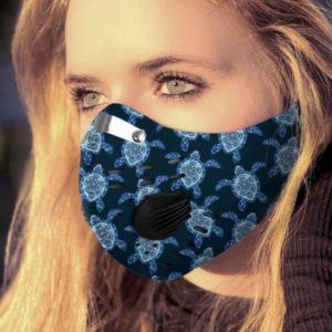 Love Sea Turtle Face Mask with Filter PM 2.5