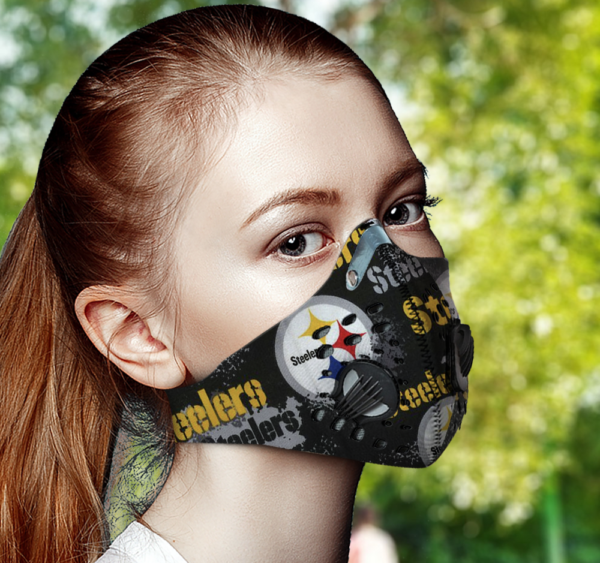 Pittsburgh Steelers Face Mask with Filter Activated Carbon PM 2.5
