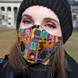 Retro Cat Face Mask with Filter PM 2.5