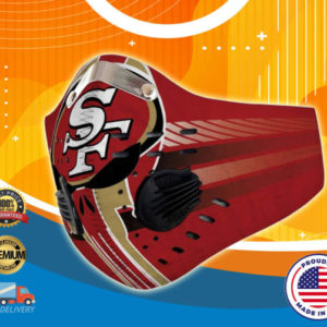 San Francisco 49ers Face Mask with Filter Activated Carbon PM 2.5