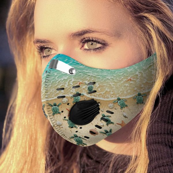 Save Sea Turtle Face Mask with Filter PM 2.5