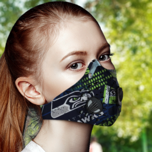 Seattle Seahawks Face Mask with Filter Activated Carbon PM 2.5