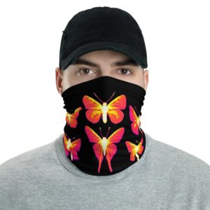 Butterflies – Thermal Images – Neck Gaiter Bandana