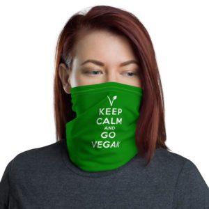 KEEP CALM AND GO VEGAN – Neck Gaiter Bandana