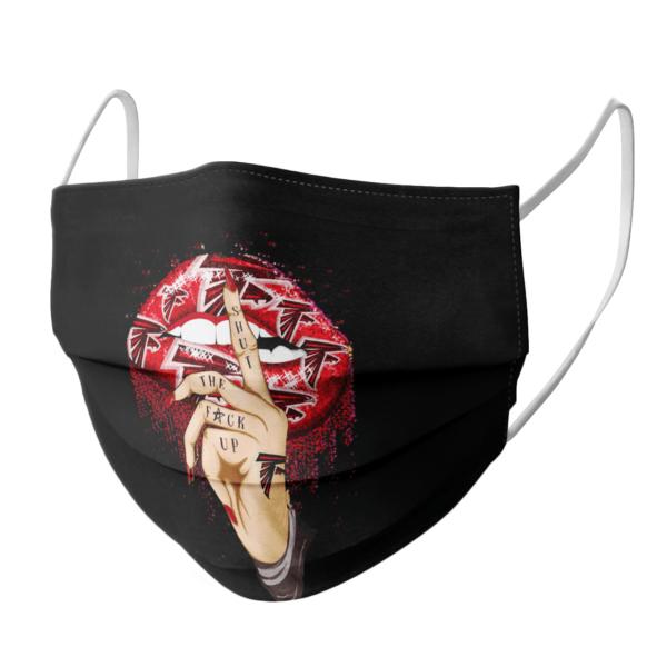 Shut The Fuck Up Fingers Tattoo Glossy Lips Atlanta Falcons Face Mask