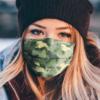 Golden Retriever Camo Pattern Face Mask
