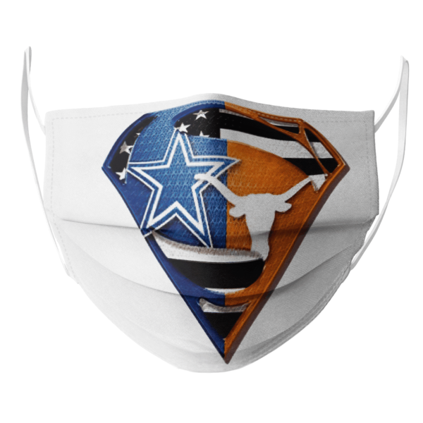 Dallas Cowboys Texas Longhorns Superman Face Mask