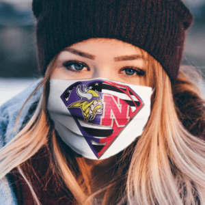 Minnesota Vikings Nebraska Cornhuskers Superman Face Mask