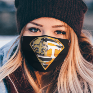 New Orleans Saints and Tennessee Volunteers Superman Face Mask