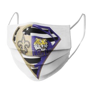 New Orleans Saints Lsu Tigers Superman Face Mask