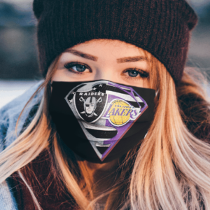 Oakland Raiders Los Angeles Lakers Superman Face Mask