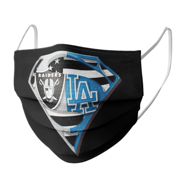 Oakland Raiders Los Angeles Dodgers Superman Face Mask