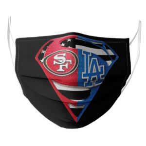 San Francisco 49ers and Los Angeles Dodgers Superman Face Mask