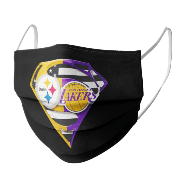 Pittsburgh Steelers and Los Angeles Lakers Supermans Face Mask