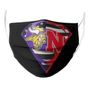 Vikings Minnesota and Nebraska Cornhuskers Superman Face Mask