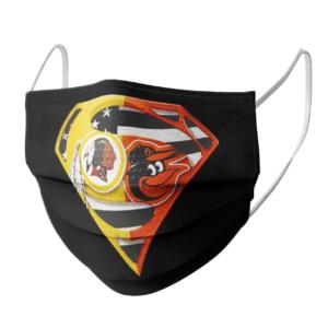 Washington Redskins and Baltimore Orioles Superman Face Mask