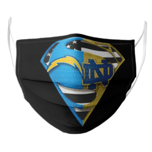 Los Angeles Chargers and Notre Dame Superman Face Mask