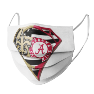 New Orleans Saints Alabama Crimson Tide Superman Face Mask