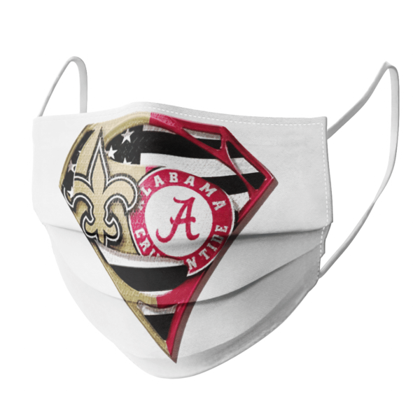 New Orleans Saints Alabama Crimson Tide Superman Face Mask