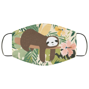 Funny Sloth Sleep Face Mask Washable Reusable