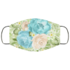 Green and Blue Flowers Face Mask Washable Reusable