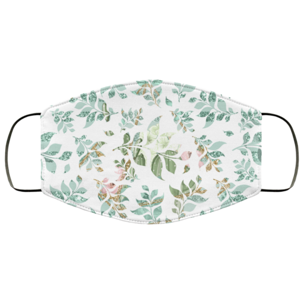 Greenery Watercolor Leaves Face Mask Washable Reusable
