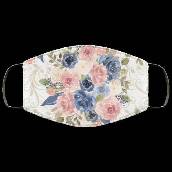 Beauty Flowers Face Mask Washable Reusable