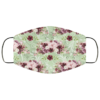 Greenery and Plum Flowers Face Mask Washable Reusable