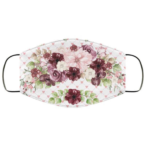 Flowers Girly Face Mask Washable Reusable