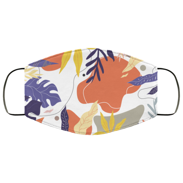 Abstract Floral Face Mask Washable Reusable