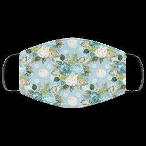 Floral Art Watercolor 3 Face Mask Washable Reusable