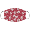 Red Wild Flower Face Mask Washable Reusable