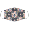 Polka Dot Flowers Face Mask Washable Reusable