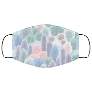 Abstract Winter Forest Face Mask Washable Reusable