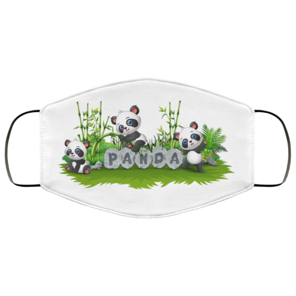 Panda Together In Garden Face Mask Washable Reusable Panther Art Face Mask Washable Reusable