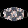 Navy Flower Art Face Mask Washable Reusable