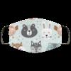 Cute Animals Bear Fox Face Mask Washable Reusable