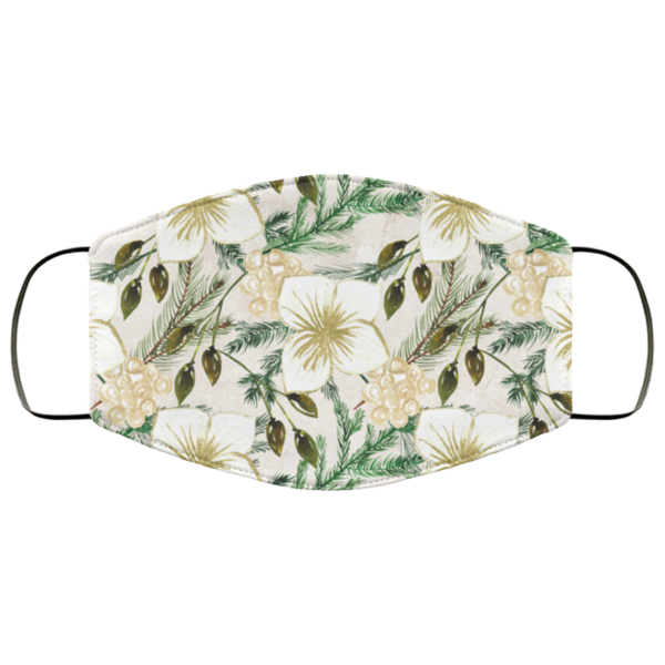 Natural Flowers Face Mask Washable Reusable