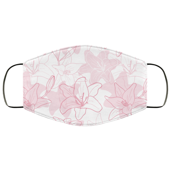 Hand Drawn Iris fFlowers Face Mask Washable Reusable