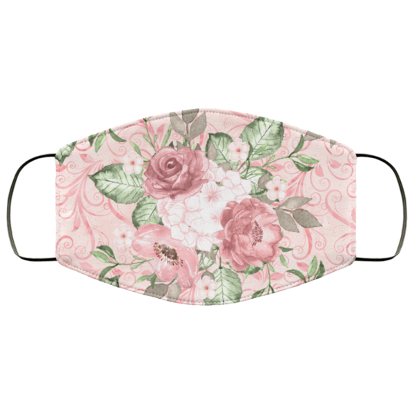 Pink Floral Face Mask Washable Reusable
