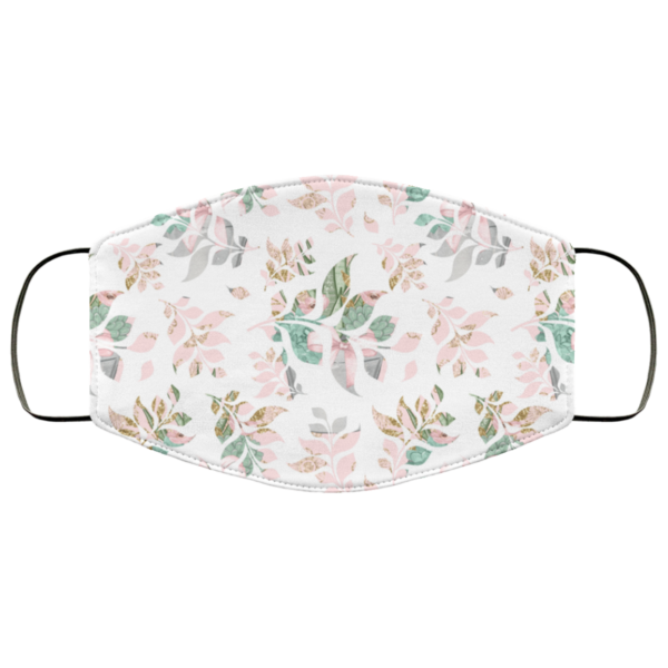 Floral Leaves Face Mask Washable Reusable