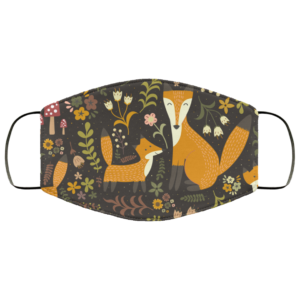 Adorable Fox Cute Foxes Face Mask Washable Reusable