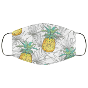 Watercolor Pineapples Face Mask Washable Reusable